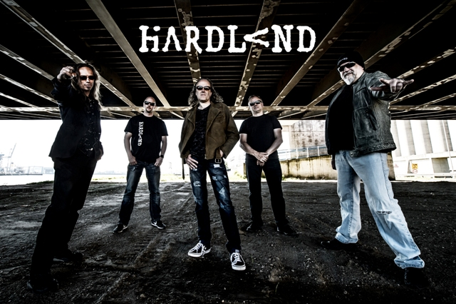 Hardland publicity photo with logo for web